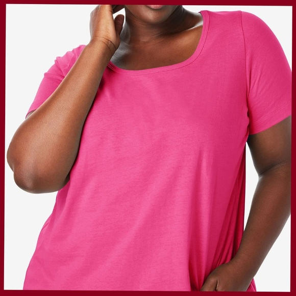 Tops - Perfect Scoop Neck Tee